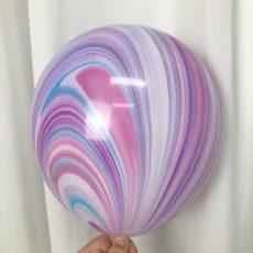 Латексный шар 11″ супер агат fashion