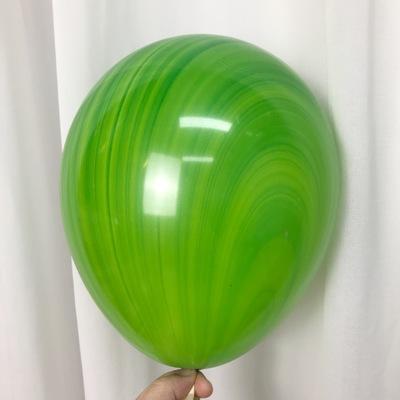 Латексный шар 11″ супер агат зеленый