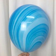 Латексный шар 11″ супер агат голубой