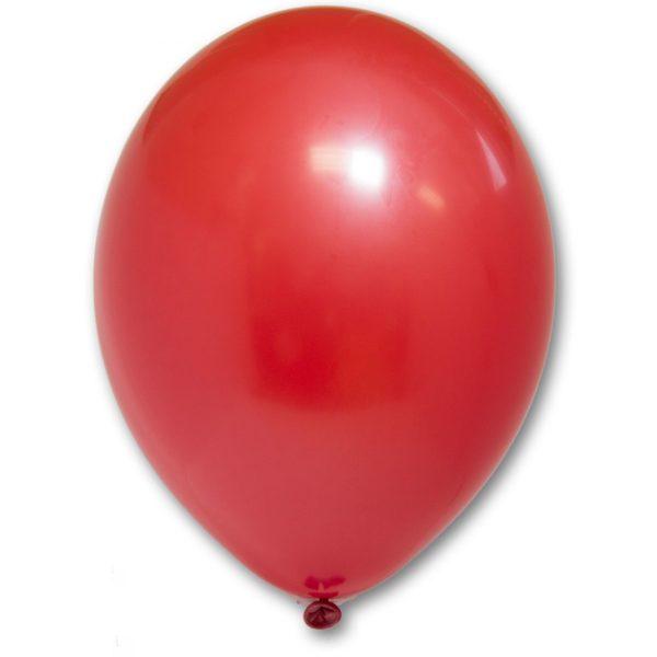 Латексные шары круглые без рисунка пастель красный