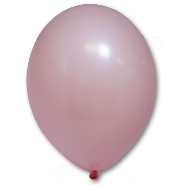 Латексные шары круглые без рисунка пастель розовый (светлый)