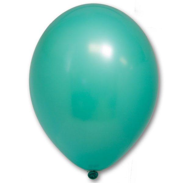 Латексные шары круглые без рисунка пастель зеленый