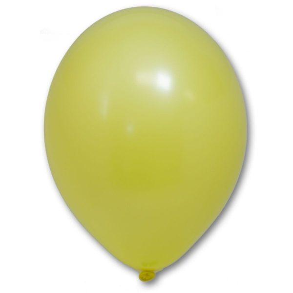 Латексный шар пастель желтый
