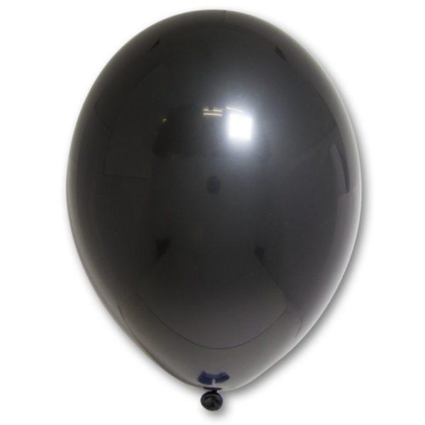 Латексный шар пастель черный