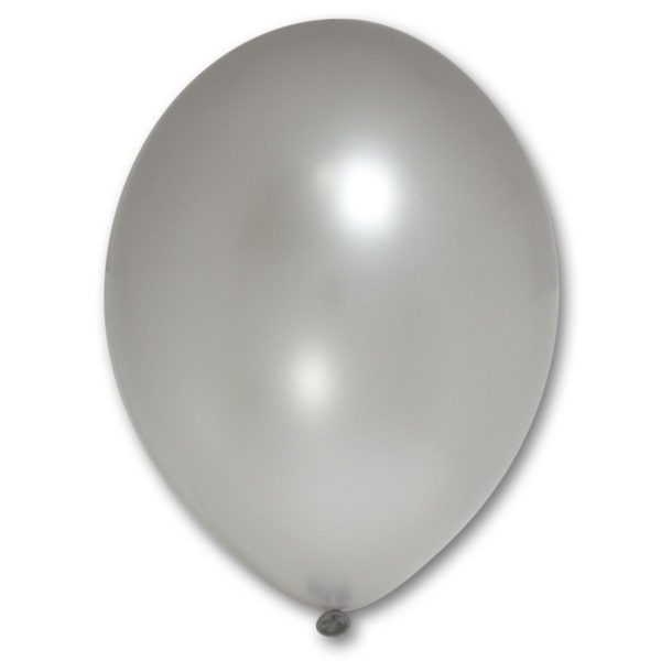 Латексные шары металлик серебряный