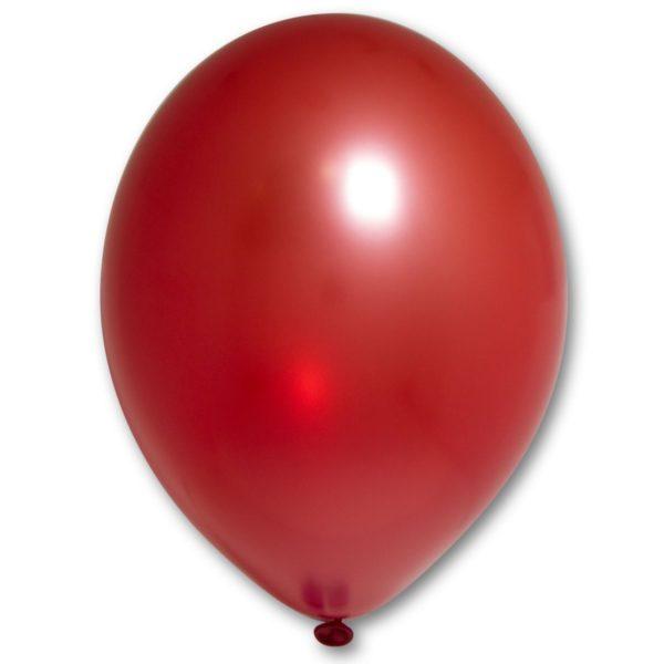 Латексные шары металлик красный
