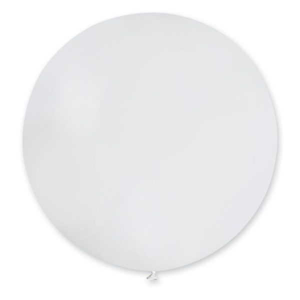 Латексный шар гигант металлик серебряный
