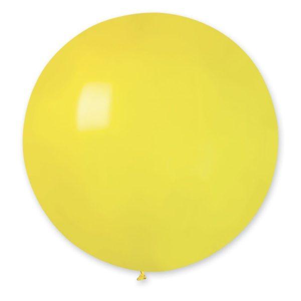 Латексныq шар гигант желтый