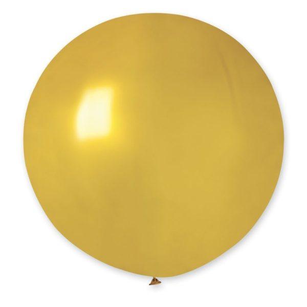 Латексный шар гигант металлик золотой