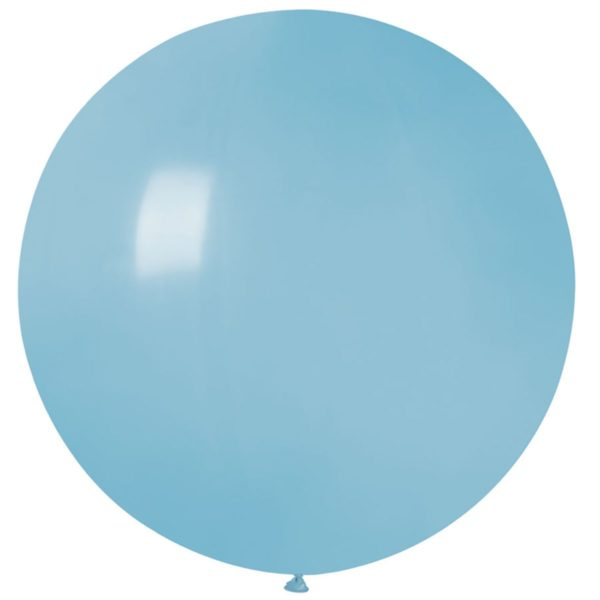 Латексный шар гигант голубой