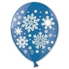 Латексный шар 12″ снежинки