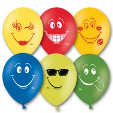 Латексный шар 12″ улыбка