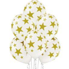 "Латексные шары металл 14"" звезды"