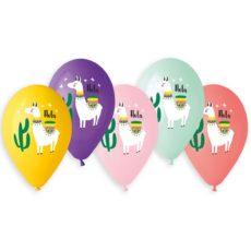 """Латексные шары 14"""" лама hola"""