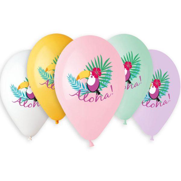 Латексный шар 14″ тукан aloha
