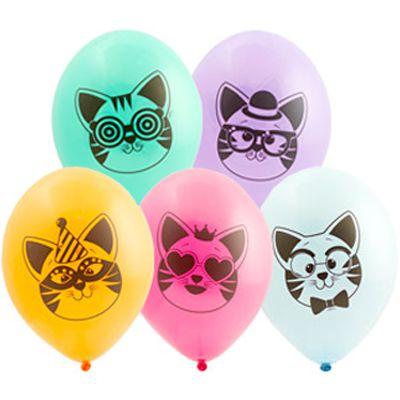 Латексный шар 14″ котики