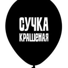 """Латексный шар """"Сучка крашеная"""""""