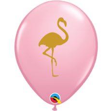 Латексный шар 11″ фламинго золотой