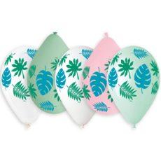 Латексный шар 14″ тропические листья