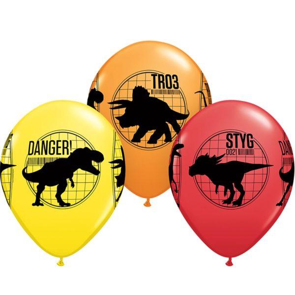 Латексный шар 11″ динозавры