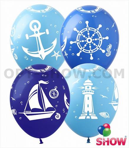 Латексный шар 12″ Морской