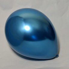 Латексный шар 11″ хром голубой blue