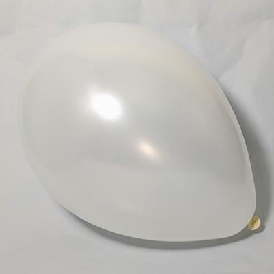 Латексный шар 11″ металлик белый pearl white