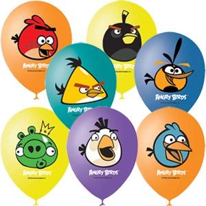 "Латексный шар 12"" Angry Birds"