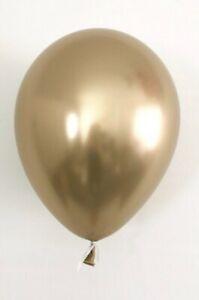 Латексный шар 11″ хром золотистый chrome gold