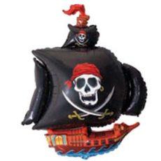 Фольгированный шар корабль пиратский