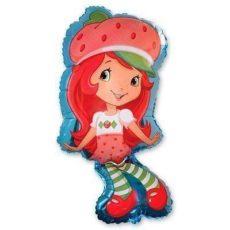 Фольгированный шар девочка клубничка