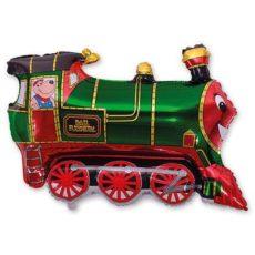 Фольгированный шар поезд