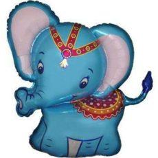 Фольгированный шар слоник голубой