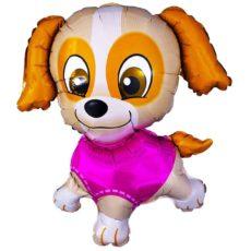 Фольгированный шар собачка девочка