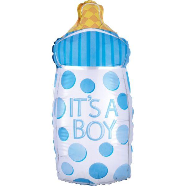 Фольгированный шар бутылка голубая