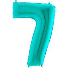 "Фольгированная цифра ""7"" Тиффани (Grabo)"