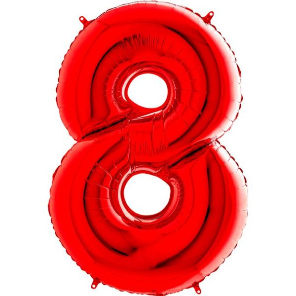 "Фольгированная цифра ""8"" Красная (Grabo)"