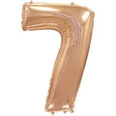"""Фольгированная цифра """"7"""" Розовое золото (Flexmetal)"""