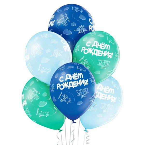 """Латексный шар 14"""" Самолеты день рождения."""