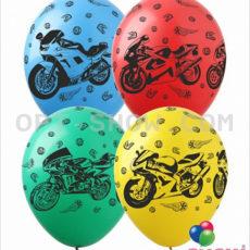 """Латексный шар 14"""" Мотоциклы"""
