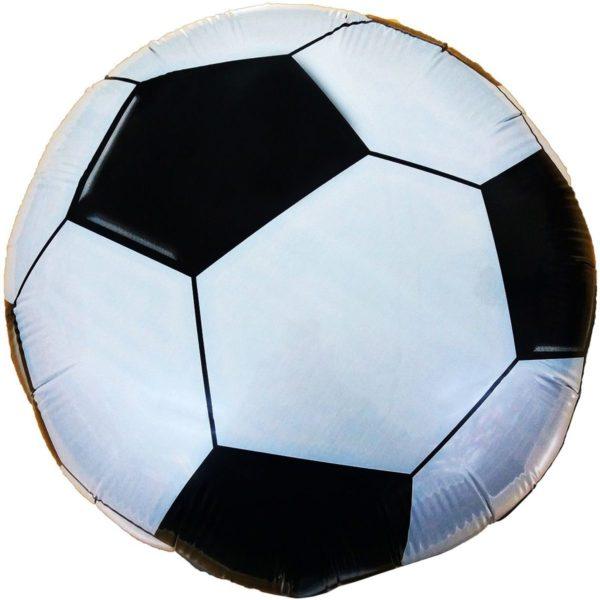 """Фольгированные шарики с рисунком футбольный мяч 18"""" (45см)"""