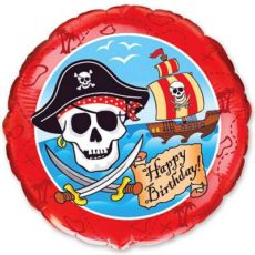 Фольгированные шарики с рисунком пираты 18″ (45см)