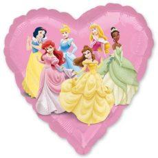 Фольгированные шарики с рисунком принцессы 18″ (45см)