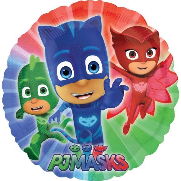 Фольгированные шарики с рисунком герои в масках 18″ (45см)