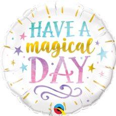 """Фольгированные шарики с рисунком """"волшебный праздничный день"""" 18″ (45см)"""