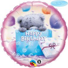Фольгированные шарики с рисунком me to you мишка с подарками 18″ (45см)