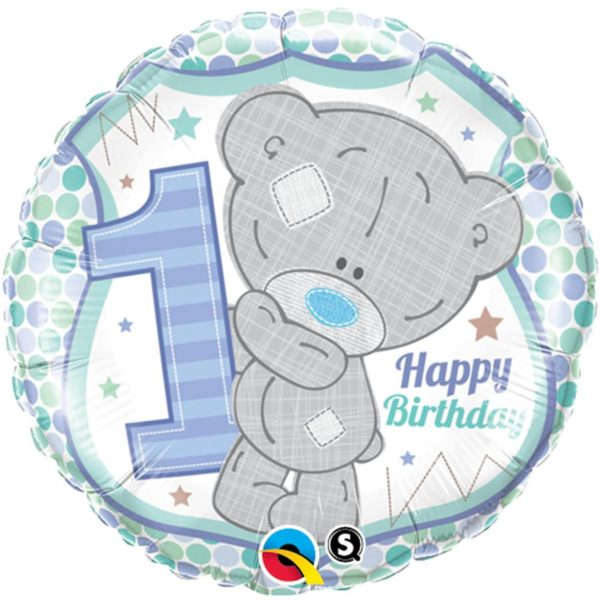 Фольгированные шарики с рисунком me to you 1-й день рождения мальчика 18″ (45см)
