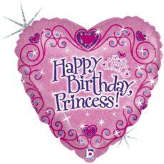 Фольгированные шарики с рисунком хб принцесса 18″ (45см)