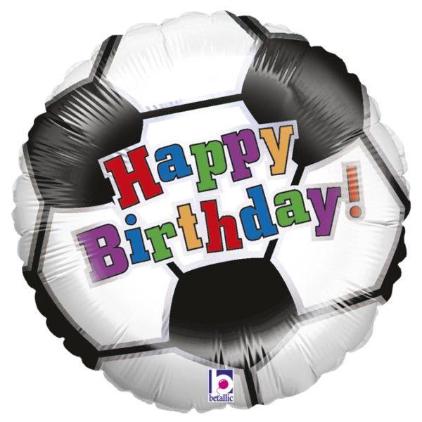 Фольгированные шарики с рисунком нв футбольный мяч 18″ (45см)