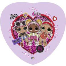 """Фольгированные шарики с рисунком сердце лол рок-группа lol 18"""" (45см)"""